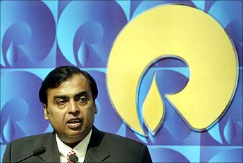 Mukesh Ambani, chairman of Reliance Industries.