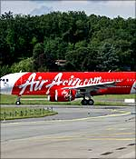 An Air Asia airbus.
