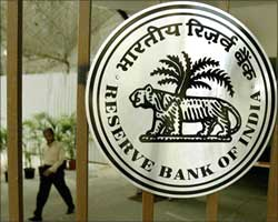 The Reserve Bank of India logo.