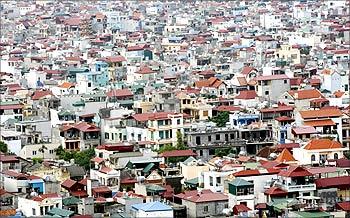 An aerial view of Kim Lien Village in Hanoi.