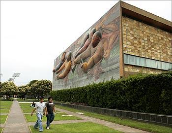 A general view of the University City campus of the Universidad Nacional Autonoma de Mexico.