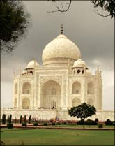 The Taj Mahal in Agra. Photograph: Reuters