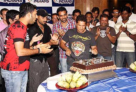 Sachin Tendulkar's birthday party.