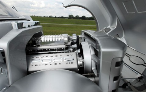 A tri-fuel car engine.