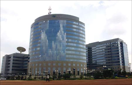 The International Technology Park Ltd building which houses nearly 50 technology firms in Bangalore.