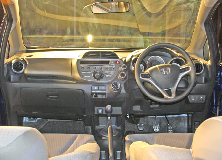 The spacious interiors of the Honda Jazz.