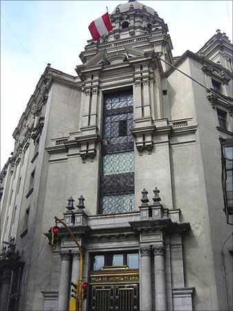 The stock exchange of Lima, Peru.