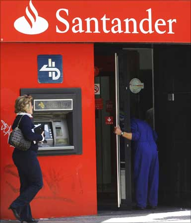 banco santander logo. Banco Santander