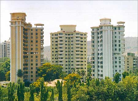 Tata Housing residential complex at Thane, Greater Mumbai.