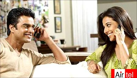 Madhavan and Vidya Balan in the Airtel advertisement