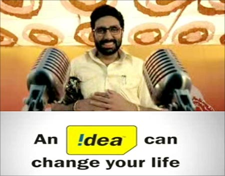 Abhishek Bachchan stars in Idea's innovative 'What a democracy' campaign.