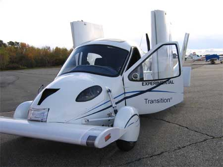The TransitionRoadable Light Sport Aircraft Proof of Concept arrives by ground.
