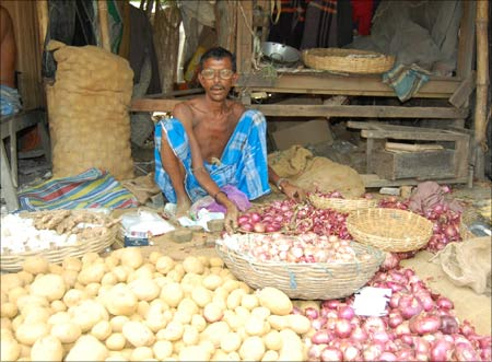 A vegetable vendor.