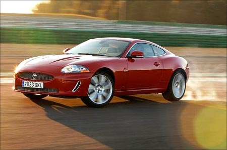 The Jaguar XKR model.