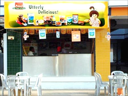 An Amul parlour.