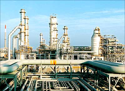 The Reliance Industries Limited petrochemical plant at Hazira in this file photo.