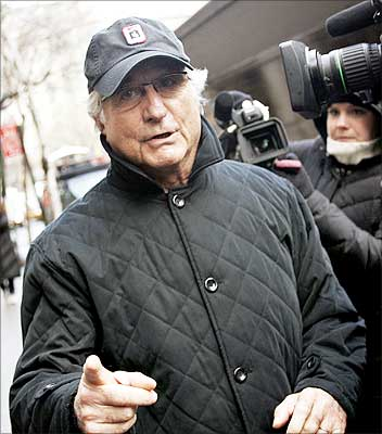 Image: Bernard Madoff walks to his apartment in New York.| Photograph: Shannon Stapleton//Reuters