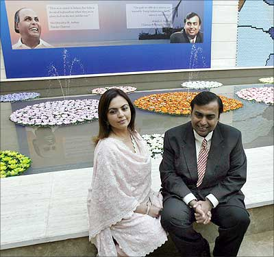 Mukesh Ambani with wife Nita.
