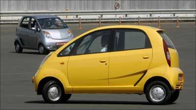 The Tata Nano. | Photograph: Punit Paranjpe/Reuters