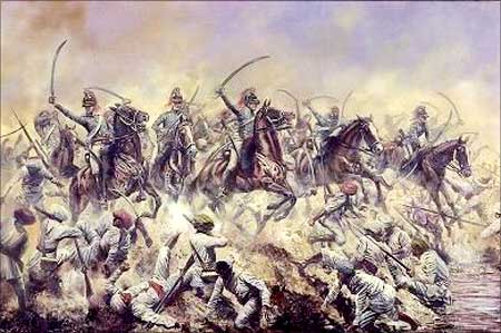 The Marathas battle the British at Assaye in Hyderabad