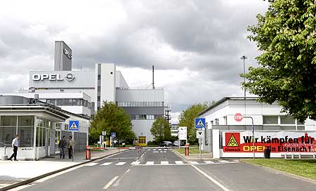 Opel plant's main entrance