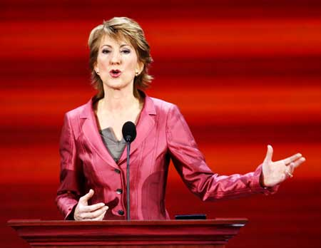 Carly Fiorina, former Chairman and CEO of Hewlett-Packard