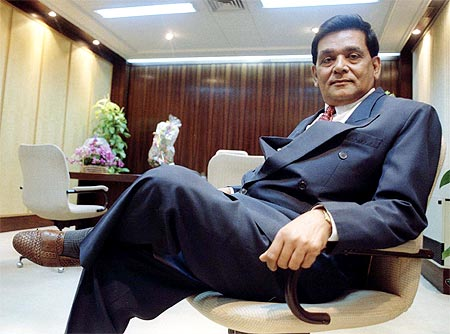 A M Naik in his office.