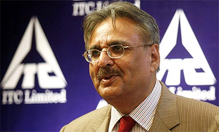 Y C Deveshwar, chairman of India's top tobacco firm ITC Ltd.