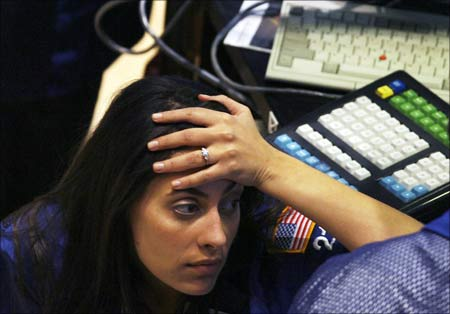 A tech worker reacts to fresh news of dismal economic data and job losses.
