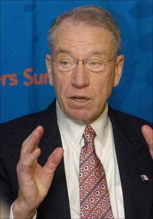 US Senator Charles Grassley of Iowa.
