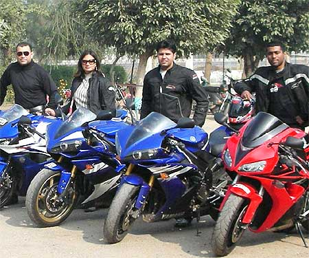 Ambika Sharma is part of an all-male bikers' club.