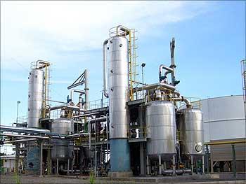 Praj's fuel ethanol plant.