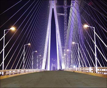 The bandra-Worli sea link in Mumbai.