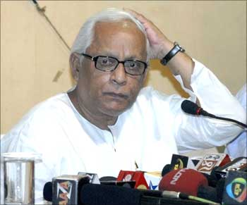 Buddhadeb Bhattacharjee, chief minister of West Bengal.