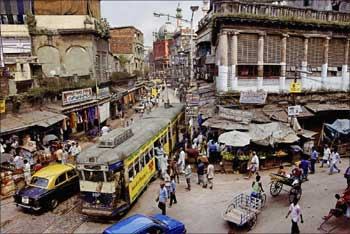 A street in Kolkata.