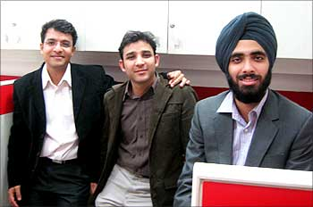 Manish Mirchandani, Vibhore Goyal and Harpreet S.Grover (L to R).