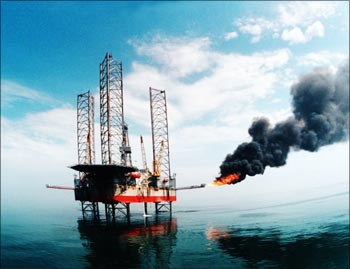 China National Offshore Oil Corporation's oil rig.