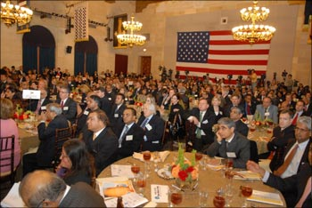 A section of the American CEOs at the US-India Business Council event in Washington DC listening to Prime Minister Manmohan Singh on November 23.