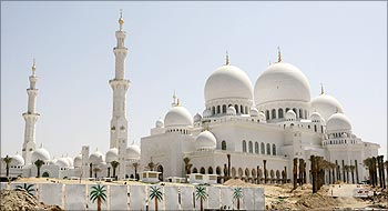 A general view of the Sheikh Zayed Bin Sultan Al Nahyan Mosque in Abu Dhabi.