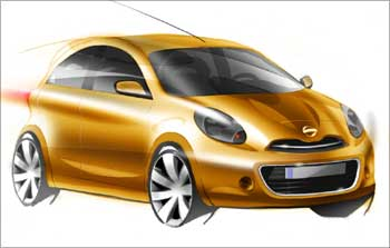 Revealed! Sketches of Nissan's compact car