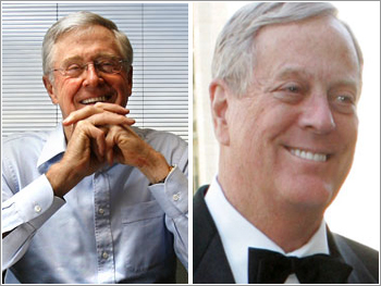 Charles Koch and David Koch (right).