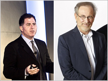 Michael Dell (left) and Steven Speilberg (Right).
