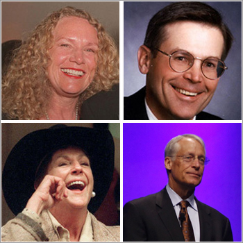 (Clockwise) Christy Walton, Jim C Walton, S Robson Walton, and Alice Walton.
