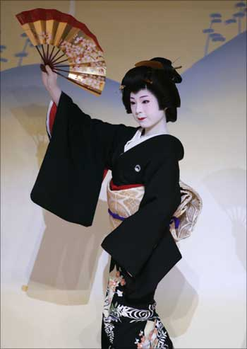 A Japanese woman.