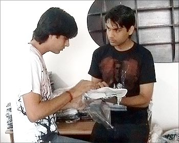 Rahul and Mohit Yadav at work.