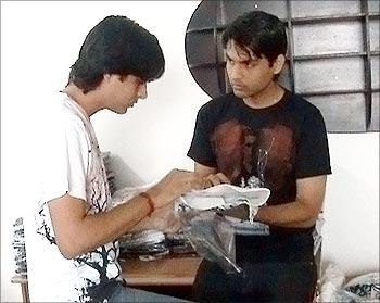 Rahul and Mohit Yadav at work.