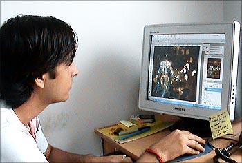 Rahul Yadav at work.