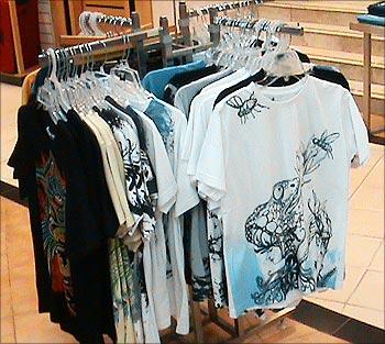 Scopial's designer T-shirts.