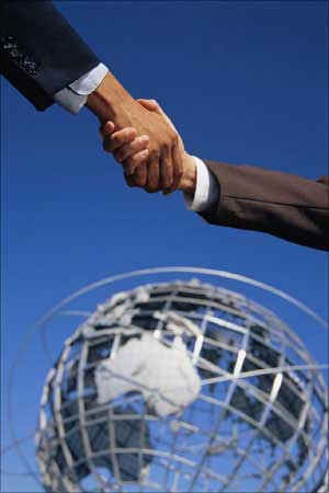 A representative image of business alliances