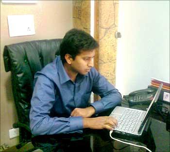 Prashant Pitti at work.